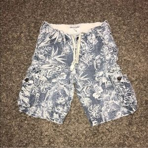 Abercrombie Boys Shorts Youth Hawaiian Button Fly